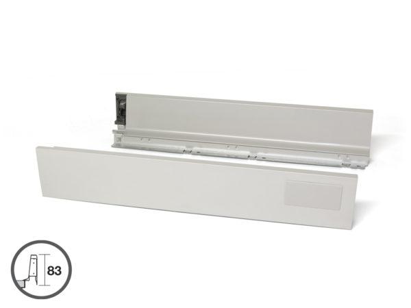 Set of 2 Emuca Vantage Q Metal Drawer Sides Only - Components