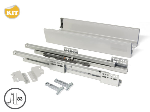 Emuca Vantage Q Soft Close Drawer Kit - Components